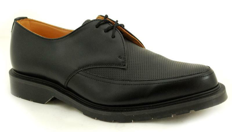 SOLOVAIR NPS Scarpe FATTO IN Pointed INGHILTERRA 3 OCCHIO NERO Pointed IN PERFO Grembiule 691d9f