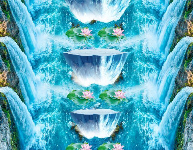3D Chutes Chutes Chutes 2 Fond d'écran étage Peint en Autocollant Murale Plafond Chambre Art | Jolie Et Colorée  59556a