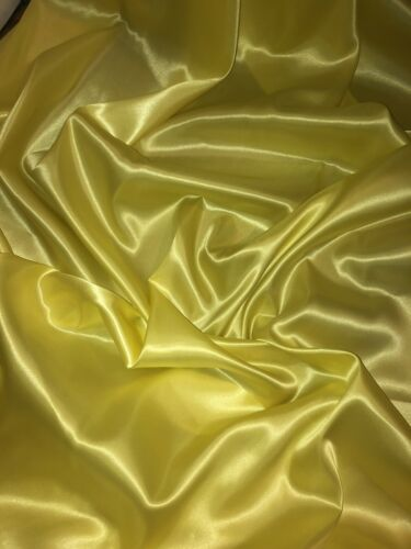 "147cm 2 mtr yellow lining satin fabric..58"" wide"