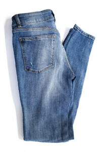 DL1961-Womens-Florence-Skinny-Leg-Jeans-Light-Blue-Cotton-Size-26