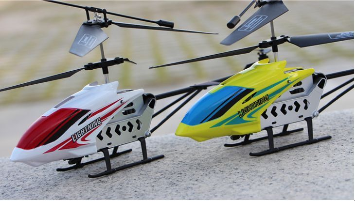 Radio controlled helicopter at 34cm