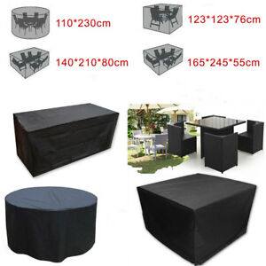 Funda cubierta impermeable polvo para juego de mueble for Fundas para mesas de jardin
