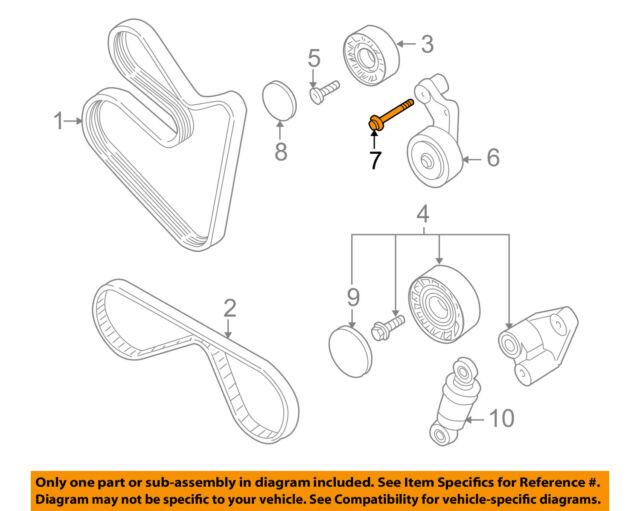 6 x bmw genuine belt drive fuel injection hex bolt with washer m8x65 ladder diagram bmw oem 00 03 z8 5 0l v8 belt or pulley tensioner bolt