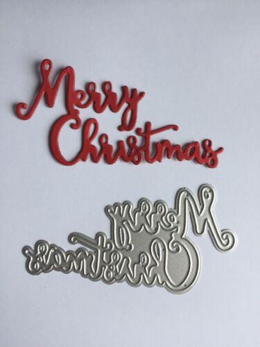 Joyeux Noël métal die cut-Joyeux Noël Mots découpe-sentiment