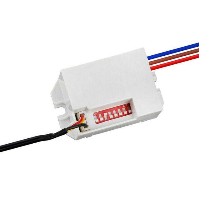 Mini PIR Bewegungsmelder zum Einbau 12V DC 100° Timer Relais KFZ CARAVAN Alarm