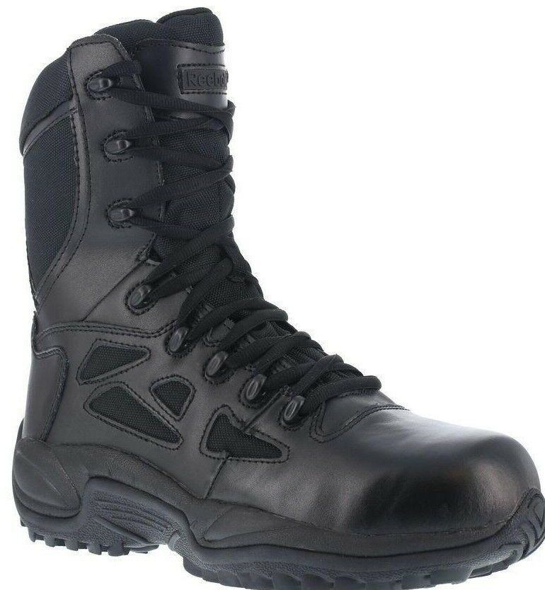 Men's Reebok Rapid Response RB8875 Black Side-Zip YKK Soft Toe 8