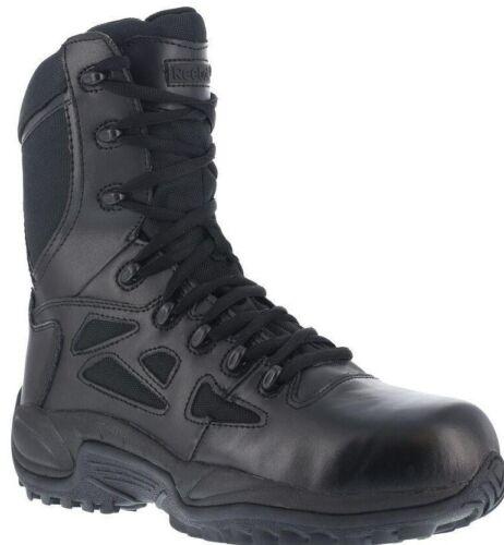 "Men/'s Reebok Rapid Response RB8875 Black Side-Zip YKK Soft Toe 8/"" Tactical Boot"