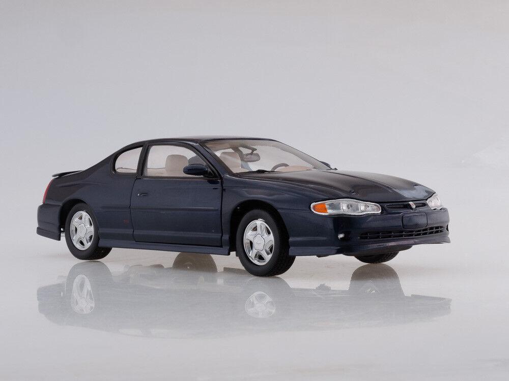 Scale model 1 18 2000 2000 2000 Chevrolet Monte Carlo SS (Navy bluee) 39fd75