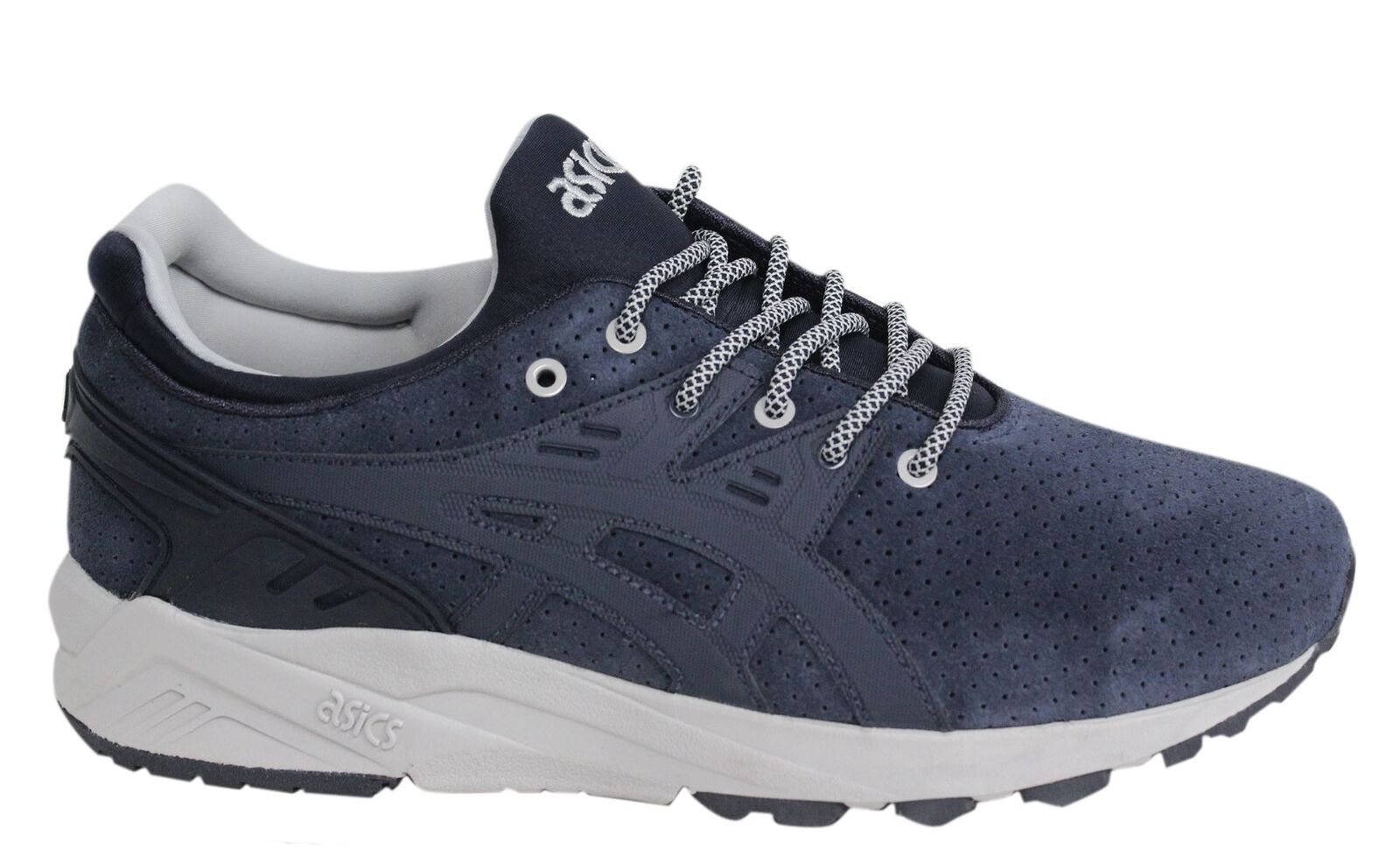 91e4c78e27b742 Asics Gel-Kayano Evo Lace Up India Ink Mens Leather Trainers H620L ...