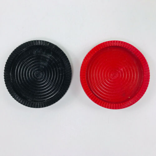 Giant Large Floor Checkers Replacements Red Black Cracker Barrel Plastic 2