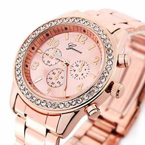 Reloj Para Mujer Relojes De Marca Relogio Feminino Dourado Joyeria Fina De Moda 746739940377 Ebay