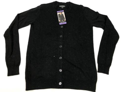 Black Size S NWT Nicole Miller Ladies/' Fairisle Cardigan