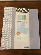 Basic Grey Capture 7x9 Journal Withtabs Dividers Amp Divided Page Protectors New