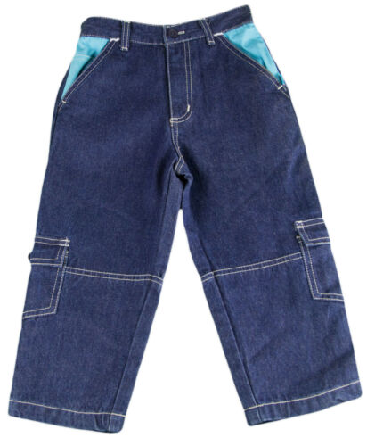 JACADI Boy's Tuba Navy Blue Cotton Woven Trousers SZ 4 Years NWT