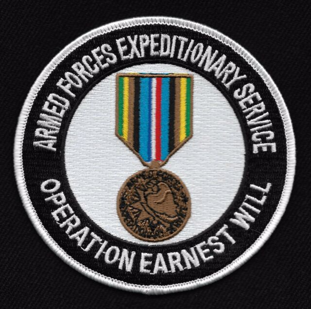 Armed Forces Expeditionary Service OPERATION EARNEST WILL Military Patch