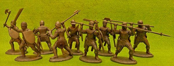 French Free Companies Medieval Foot Soldiers 1/32 54MM Expeditionary Force Toy