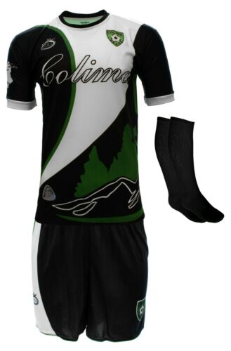 Colima Mexico Uniform Color Black//White Jersey,short,socks and number