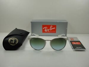 84426b9558b4a RAY-BAN ERIKA METAL SUNGLASSES RB3539 9080I7 SILVER GREEN GRADIENT ...