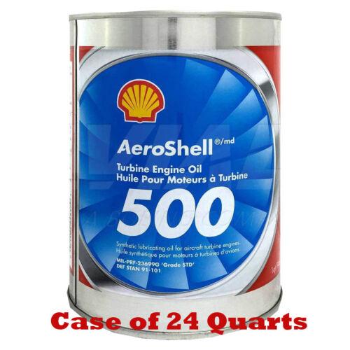 AeroShell 500 Turbine Engine Oil New Stock Case of 24
