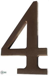 Numero-de-casa-034-4-034-de-plastico-marron-oscuro-altura-175mm