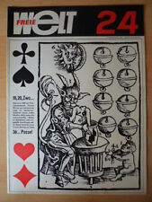 FREIE WELT 24 1965 Konstantin Fedin Hochwasser Hermann Buhl Südamerika Skat