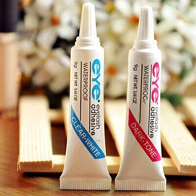 Waterproof False Eyelashes Makeup Adhesive Eye Lash Glue Clear White Lady New