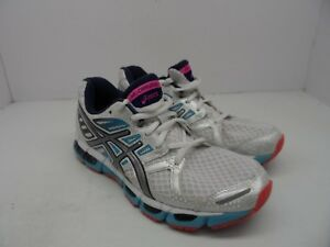 c4a49108332d Asics Women s Gel Cirrus 33 2 Running Shoe White Lightning Navy Size ...