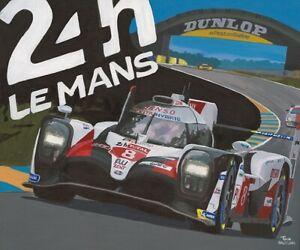 Canvas-2019-24h-Le-Mans-winner-Toyota-TS050-Hybrid-8-by-Toon-Nagtegaal-OE