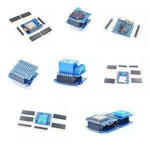 ESP8266-WeMos-D1-Mini-NodeMcu-Battery-Shield-0-66-034-OLED-Shield-For-Arduino