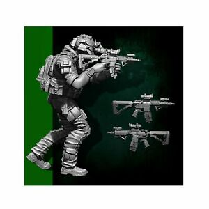 Scale-1-35-US-Seal-Attack-Team-Soldier-Figure-Resin-YUFAN-Model-Kits-YFWW35-1823
