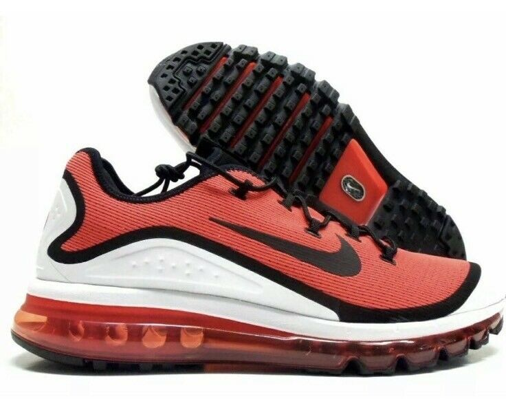 NWT Mens Nike Air Max More Running Cross Fit shoes - Red - AR1944-600 - SZ-12