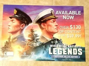WORLD OF WARSHIPS LEGENDS GAMESTOP EXCLUSIVE PROMO AD POSTER