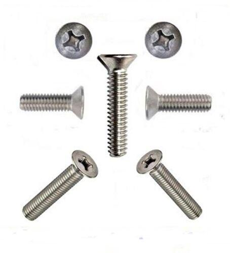 Senkschrauben Senkkopfschrauben 4 mm M4 DIN 965 4 x 6 bis 4 x 80 Edelstahl