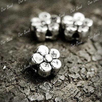 300 Pcs Tibetan Flower Spacers beads Findings TS907