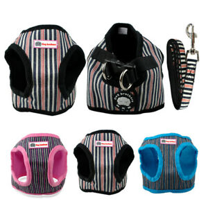Soft-Cotton-Padded-Step-in-Dog-Harness-amp-Leash-Set-Puppy-Walking-Harness-Vest
