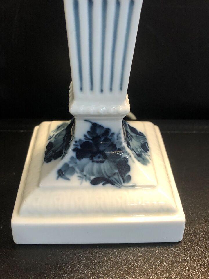 Porcelæn, Lampe - bordlampe -, Royal Copenhagen Blå Blomst