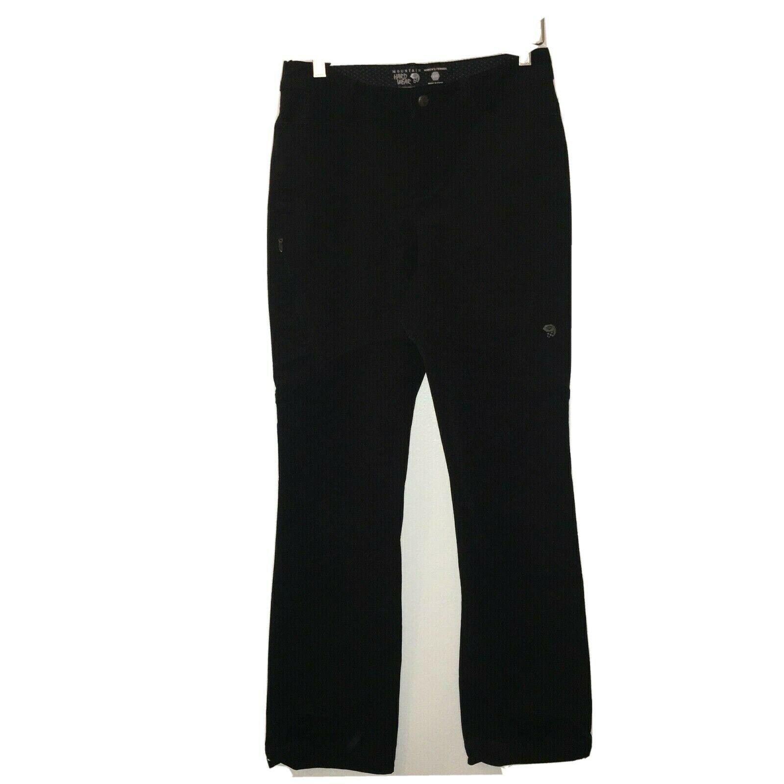 2 x 32 long women's mountain hardwear pants thick black outdoor hiking 21-2221