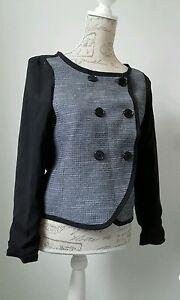 GAP-Black-white-fine-check-jacket-coat-Size-XS-Excellent-condition