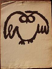 Lithographie de Christian SCHMIDT signée numérotée chouette Toulouse