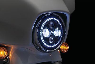 "Kuryakyn 7/"" Headlight Headlamp Trim Ring Bezel for Harley FLH//T 14-17 Chrome"