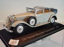 Ixo Altaya 1/43 Mercedes Benz 770 Grand Covertible (1932) in Plexi-Box #189