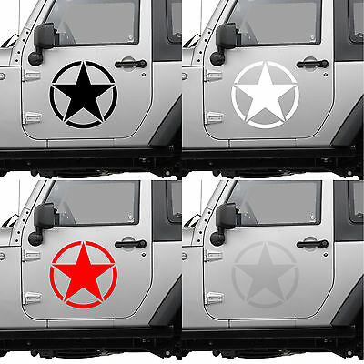 Army Us Roundel 10cm Star Military Jeep Range 4x4 Autocollant Sticker aa127 Fixing Prices According To Quality Of Products