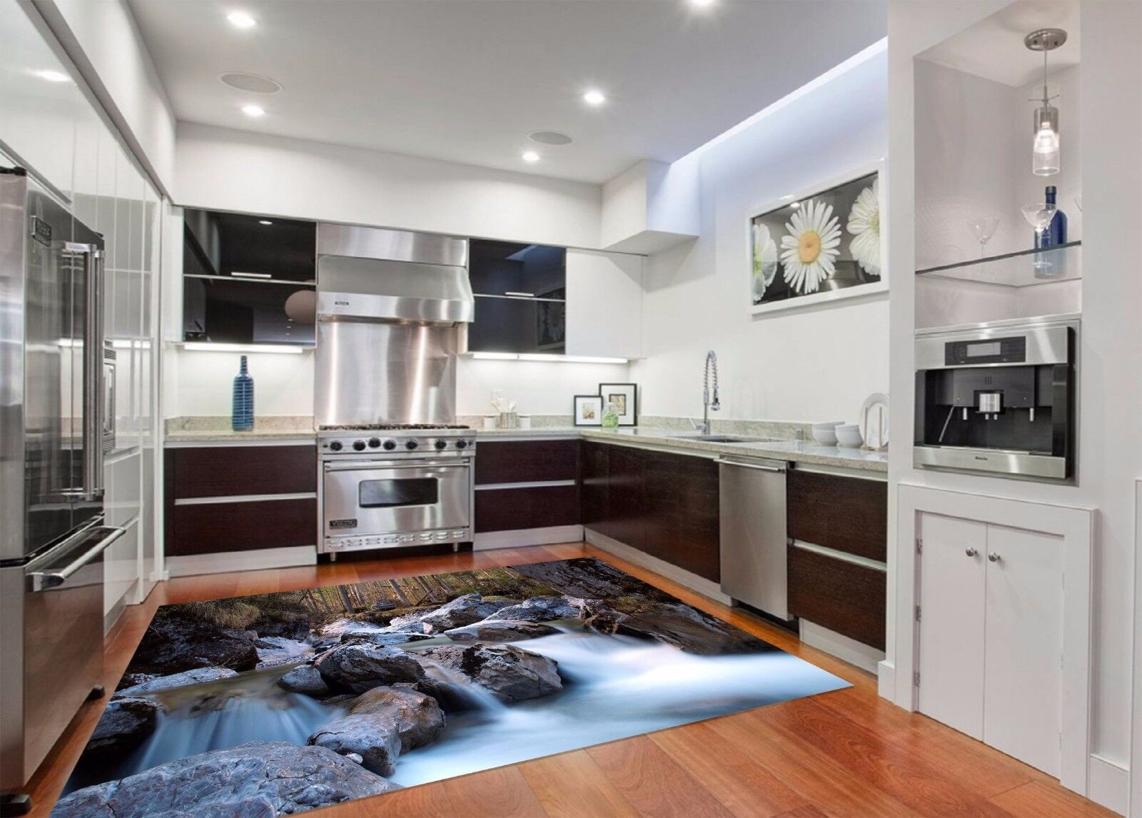 3D Pietra Foresta 39 Tappetino da cucina Stampa pavimento Murales ...