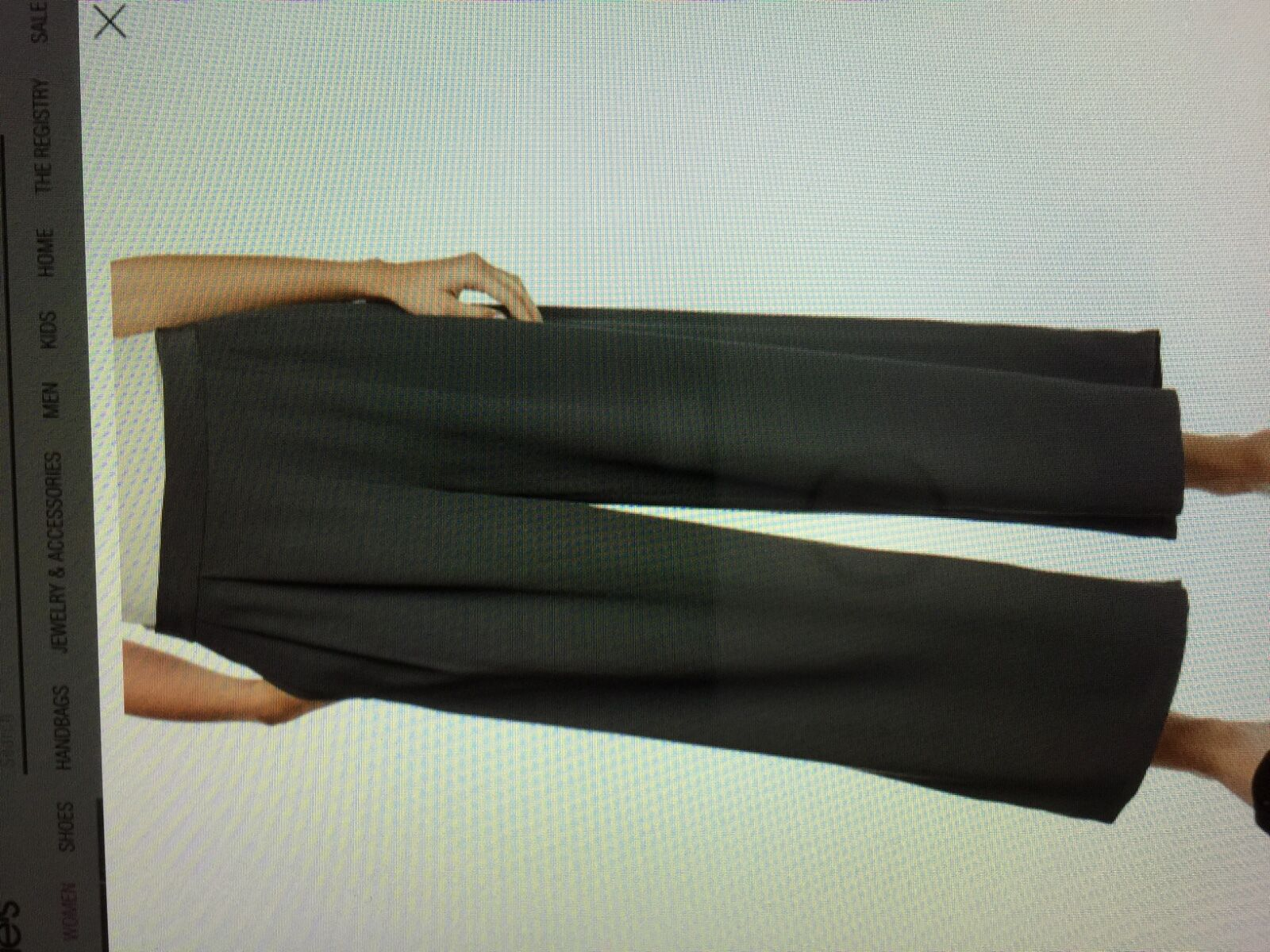 268 NWT Eileen Fisher Cropped Wide Leg Pants sz M