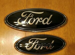 """2004-2014 Ford F150 W// camera Grill /& tailgate  GLOSS//MATTE emblem 9/"""" /& 7/"""""""