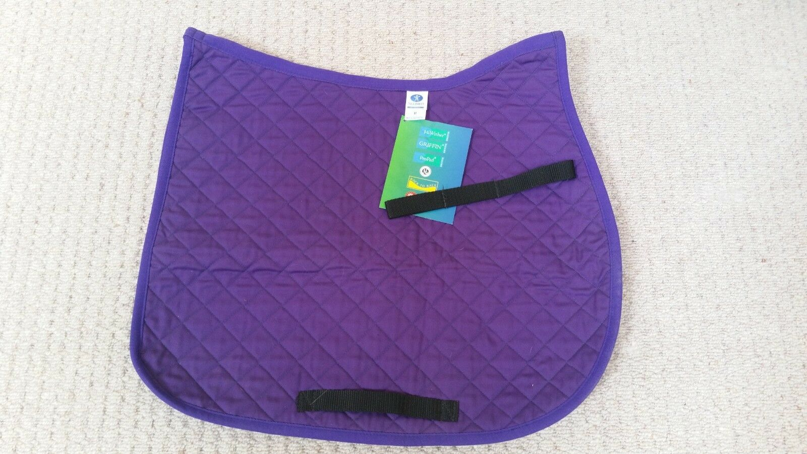 Griffin Nuumed SP11-GP - Everyday Hi-Wither Purple Medium 5 oz Quilt Saddle Pad