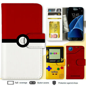 super popular df689 ecc40 Details about Galaxy S10e S10 Plus Note 9 Case Pokemon Print Wallet Leather  Cover for Samsung