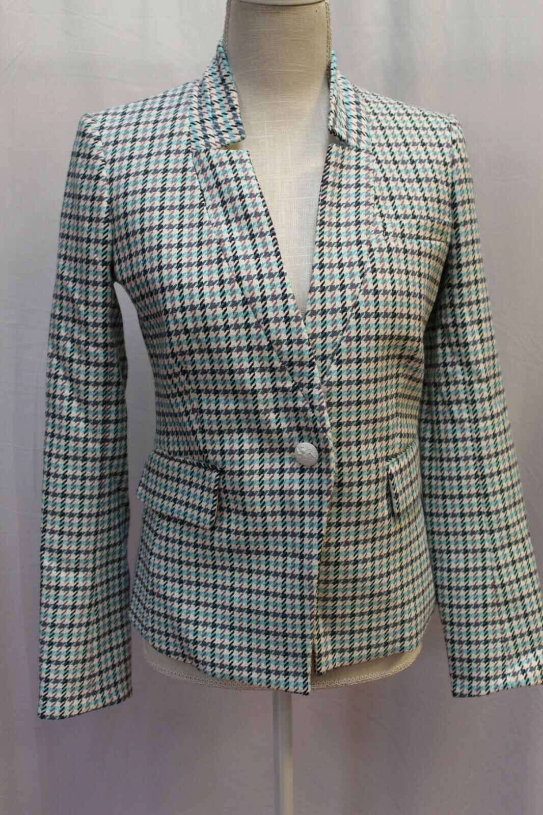 NWT VERONICA BEARD Farley Dickey Jacket Coat Blazer Turquoise 4 Small
