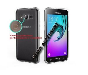 Cover case Samsung J3 2016 TPU silicone trasparente sottile ultra slim morbida