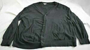 Men-039-s-XXL-Merona-Cardigan-Style-Sweatshirt-Black-Long-Sleeve
